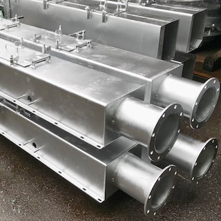 Metal fabrication Singapore - Galvanized Chutes