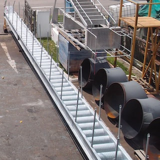 Singapore metal fabrication - Ship gangways