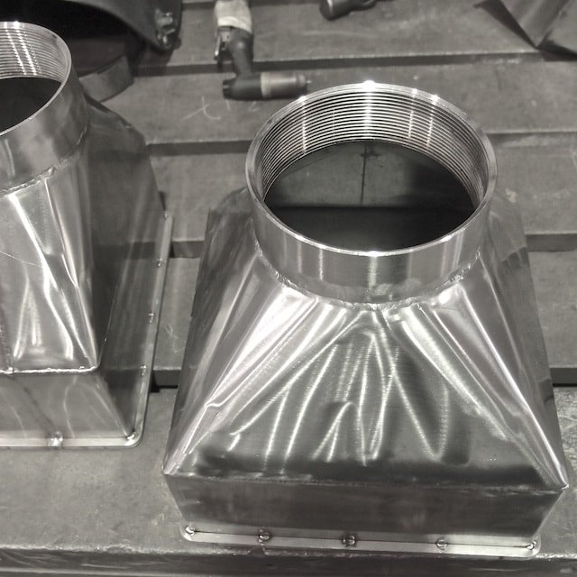 Metal fabrication singapore - Stainless steel square to round reducer